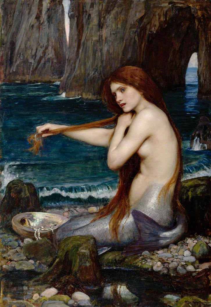 Waterhouse, John William; A Mermaid; Royal Academy of Arts; http://www.artuk.org/artworks/a-mermaid-149322 A Mermaid by John William Waterhouse