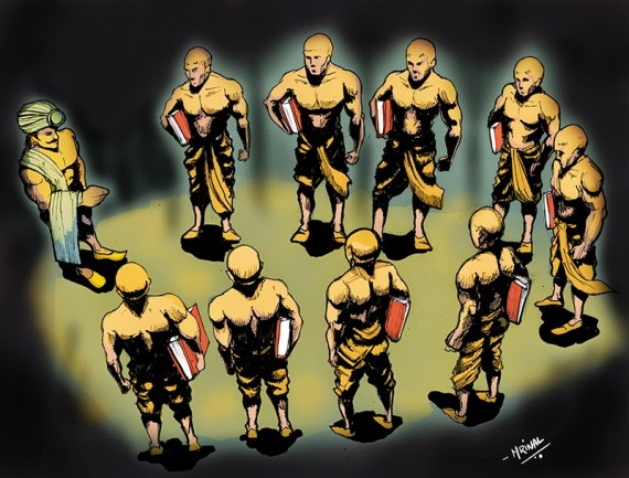 nine secret men of Ashoka